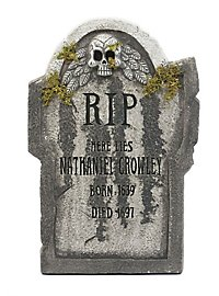 Nathaniel Tombstone with Moss Halloween Decoration