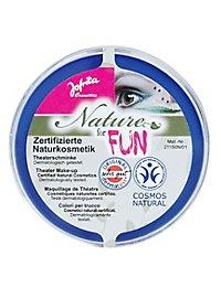Natural cosmetics make-up blue
