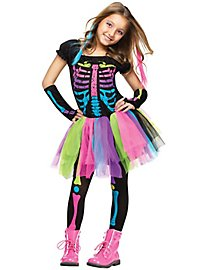 Neon Ghost Girl Child Costume