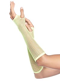 Net Fingerless Gloves neon green