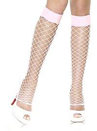 Net leg warmers pink