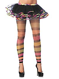 Net Tights with Rainbow Stripes