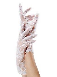 Netzstrumpf Handschuhe weiß