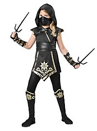 Ninja fighter kid's costume, female