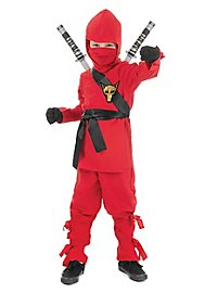 Ninja fighter kid's costume red