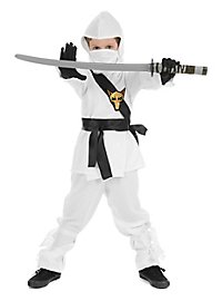 Ninja fighter kid's costume white