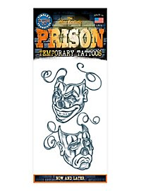 Now and Later Temporary Prison Tattoo