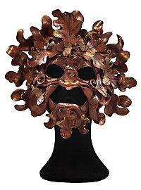 Oak King Half Mask Made of Leather