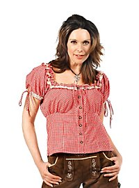 Oktoberfest Blouse red & white