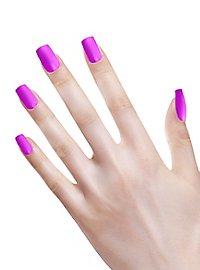 Ombre Fingernägel neonviolett