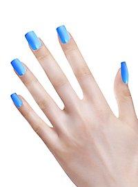 Ombre Fingernails neon blue