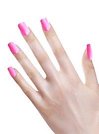 Ombre Fingernails neon pink