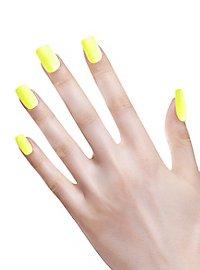 Ombre Fingernails neon yellow