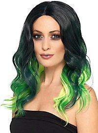 Ombré Hair Kunsthaar Perücke grün