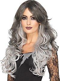Ombré Hair synthetic hair wig grey