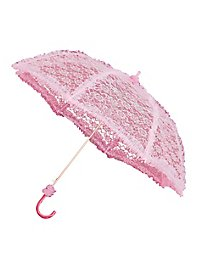 Ombrelle avec dentelle rose