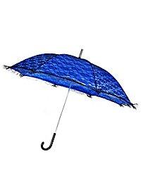 Ombrelle bleue avec dentelle noire