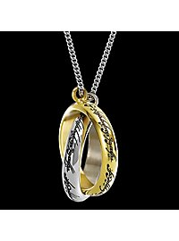 One Ring Entwined Pendant with Chain