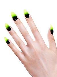 Ongles pointus vert criard