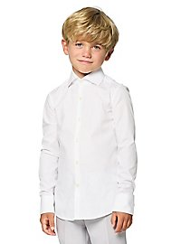 OppoSuits Boys White Knight Kinder Hemd
