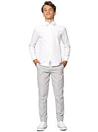 OppoSuits Teen White Knight Kinder Hemd