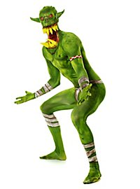 Orc with teeth morphsuit full body costume