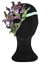 Orchidée magie florale lilas Loup en cuir un seul côté