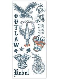 Outlaw Klebe-Tattoo
