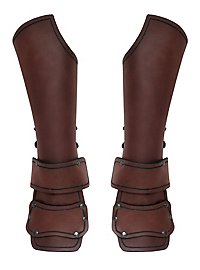 Outrider Vambraces with Hand Guard brown