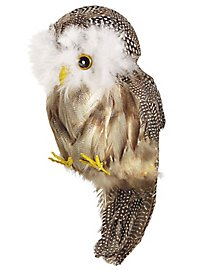 Owl from real feathers