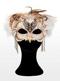 Owl Sorceress Leather Half Mask