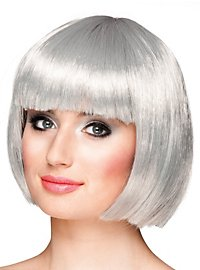 pageboy cut silver-grey