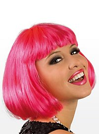Pageboy hot pink Wig