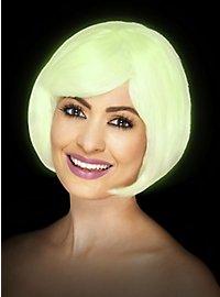 Pageboy white wig Glow in the Dark