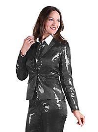 Pailletten Anzug für Damen schwarz