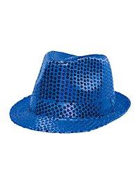 Pailletten Hut blau