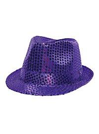 Pailletten Hut lila