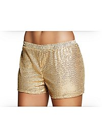 Pailletten-Shorts Damen gold