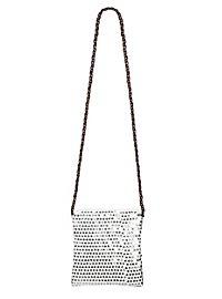 Pailletten Tasche silber