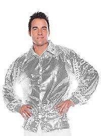 Paillettenhemd silber