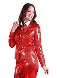 Paillettenjacke für Damen rot