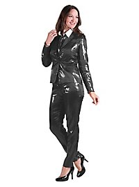 Paillettes suit for ladies black