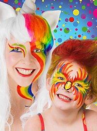 Palette de crème maquillage de carnaval