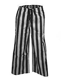 Pantalon de pirate rayé gris et noir