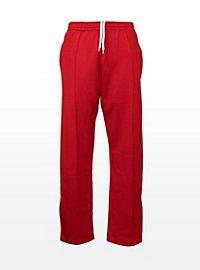 Pantalon de sport rétro rouge
