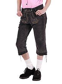 Pantalon en cuir Femme gris longueur genou