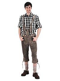 Pantalon en cuir vert longueur genou