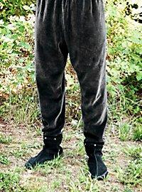 Pantalon en velours médiéval gris