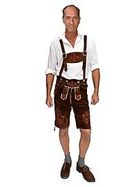 Pantalon folklorique court en cuir