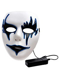 Pantomime light mask with battery compartment